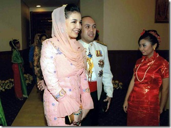 Tengku Temenggong Mohammad Fakhry dan Manohara di Kelantan. Foto : Istimewa