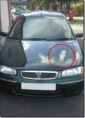 Hantu Jacko di Mobil