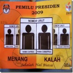 inilah pemenang pilpres 2009