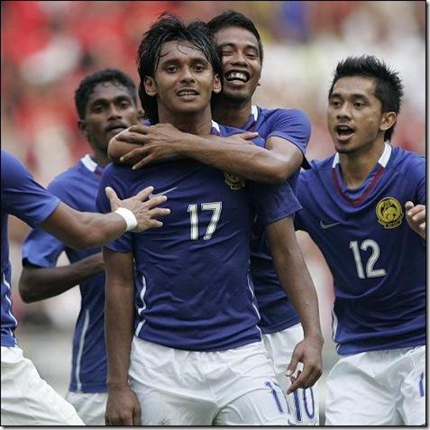 Mohd Amri Yahyah selebrasi gol
