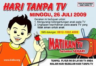 poster hari tanpa televisi 2009