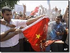 turki protes kasus Xinjiang