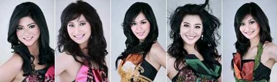 5 besar finalis Puteri Indonesia 2009