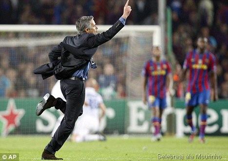 Jose Mourinho selebrasi