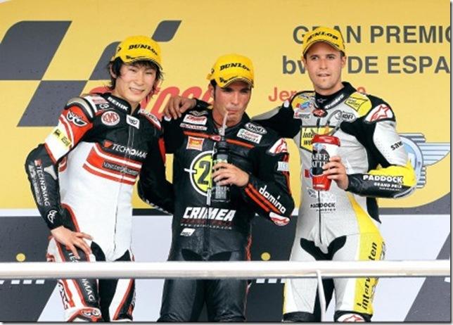 Podium Moto2 Jerez 2010