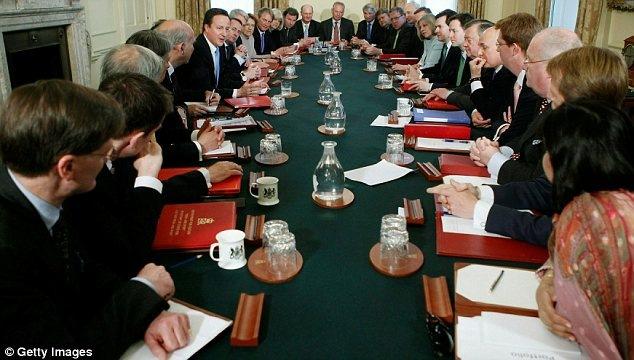 sidang kabinet pertama david cameron